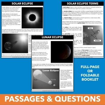 Solar Eclipse 2017 - Click & Go Solar Eclipse Activities and Resources