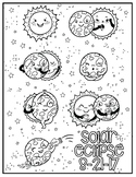 Solar Eclipse 2017 Coloring Sheet