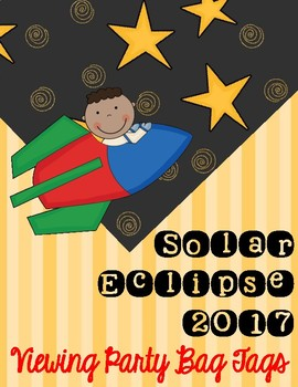 Solar Eclipse 2017 Junior Astronaut Snack Pack Bag Toppers