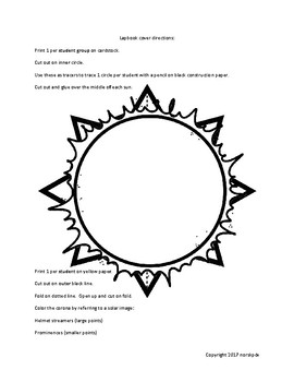 Solar Eclipse 2017 Lapbook (English version)