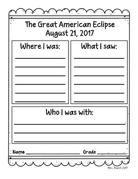Solar Eclipse 2017 Memory Pages