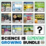 Science Unit Bundle with Plants Activities, Bees, Sound, Water Cycle Unit