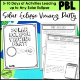 Solar Eclipse Project Based Learning Activity For 3rd, 4th, and 5th STEM