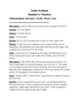 Solar Eclipse 2017 Reader's Theatre