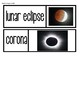 Solar Eclipse 2017 Vocabulary Picture Cards