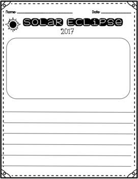 Solar Eclipse 2017 Writing