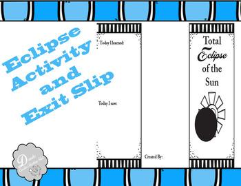 Solar Eclipse Activity Brochure and Exit Slip