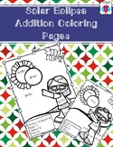 Solar Eclipse Addition Coloring Pages