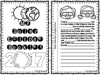 Solar Eclipse Booklet Foldable