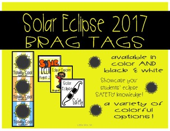 Solar Eclipse Brag Tags!