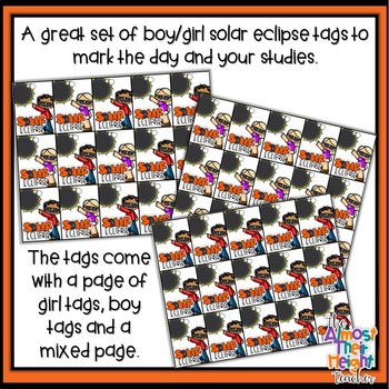 Solar Eclipse 2017 Brag Tags - Freebie
