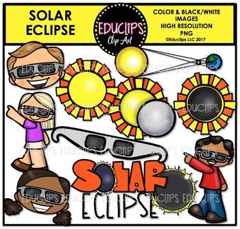 Solar Eclipse Clip Art Bundle {Educlips Clipart}