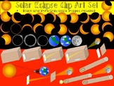 Solar Eclipse Clip Art - Solar Eclipse Phases, Diagrams, and Pinhole Viewers