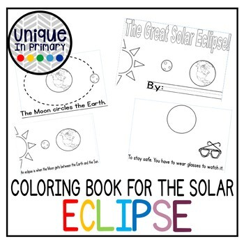 Solar eclipse coloring book student reader by for Solar eclipse coloring page