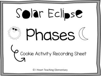Solar Eclipse Cookie Activity Recording Sheet