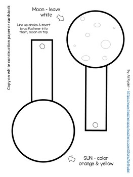 Solar Eclipse Craft & Coloring Sheet