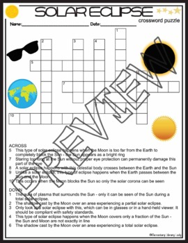 Solar Eclipse Crossword and Word Search Find Activities  sc 1 st  Teachers Pay Teachers & Solar Eclipse Crossword and Word Search Find Activities   TpT 25forcollege.com