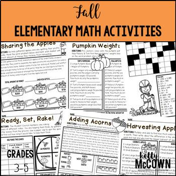 Fall Elementary Math Activities