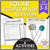 Solar Eclipse Elementary Math Activities