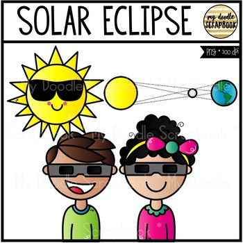 Solar Eclipse FREEBIE (Clip Art for Personal & Commercial Use)