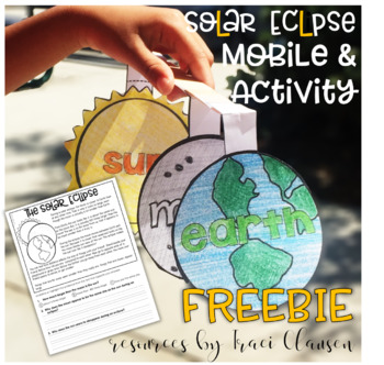 Solar Eclipse - FREEBIE - for primary grades