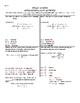 Solar Eclipse Fun Fact Activity - Pre-Cal/Algebra 2