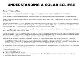 Solar Eclipse 2017 Group Activity - Last Minute Quick Prep Powerpoint