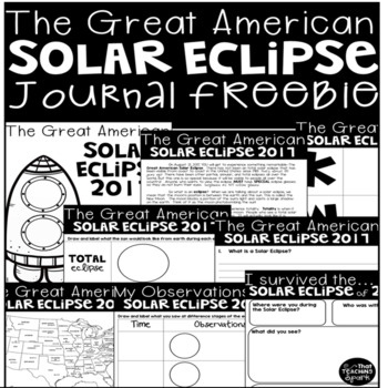 Solar Eclipse Journal Freebie
