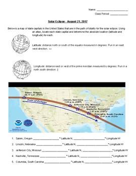 Solar Eclipse Latitude Longitude