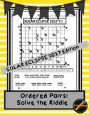 Solar Eclipse Math- Ordered Pair