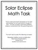 Solar Eclipse Math Task (Travel)