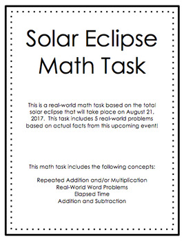 Solar Eclipse Math Task (Travel)