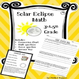 Solar Eclipse Math Word Problems Grades 3-5