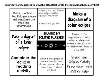Solar Eclipse Menu