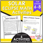Solar Eclipse Middle School Math Activities