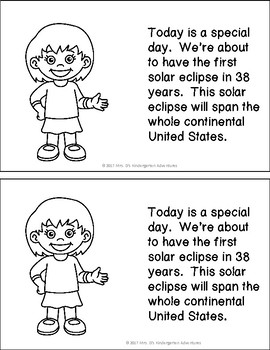 Solar Eclipse Mini Lesson and Activities Freebie!