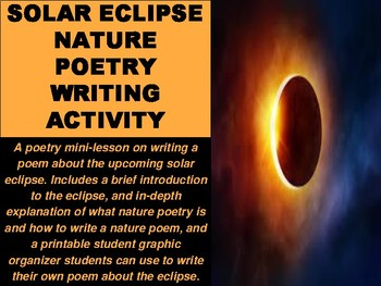 Solar Eclipse Nature Poetry Writing Activity