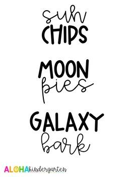 Solar Eclipse Snack Labels: EDITABLE