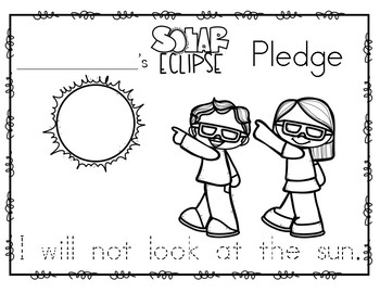 Solar Eclipse Pledge for Little Ones!