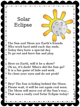 Solar Eclipse Poem FREEBIE!