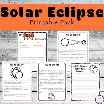 Solar Eclipse Printable Pack