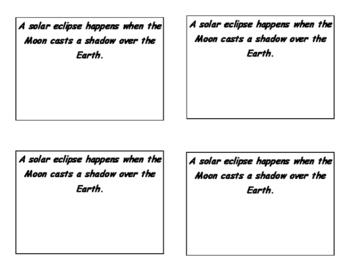 Solar Eclipse Science Activity Craft