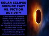 Solar Eclipse Science Fact vs. Fiction Activity