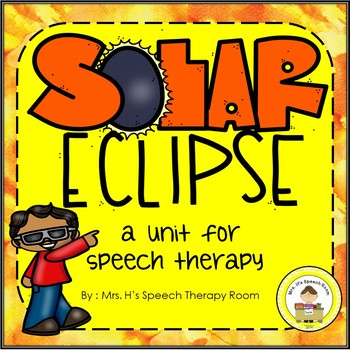 Solar Eclipse Speech Therapy Pack