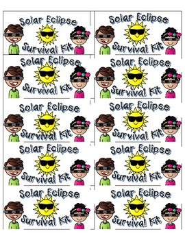 Solar Eclipse Survival Kit Labels