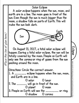 Solar Eclipse Tab Booklet