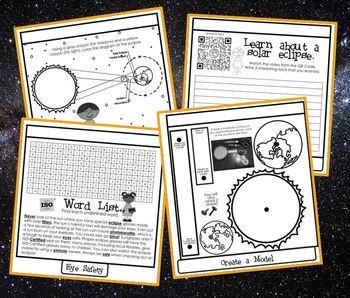 Solar Eclipse 2017 Tab Book or Worksheet Pack