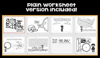 solar eclipse 2017 tab book or worksheet pack by cassi noack tpt. Black Bedroom Furniture Sets. Home Design Ideas