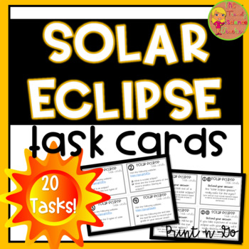 Solar Eclipse Task Cards