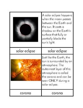 Solar Eclipse Three/Four Part Cards